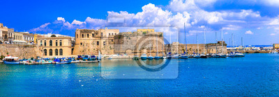 Landmarks of Puglia - old town of Gallipoli. south of Italy