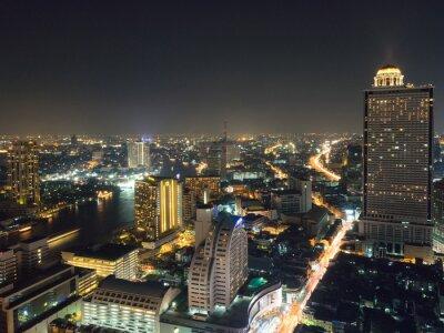 Obraz Landscape Bangkok city  skyline night