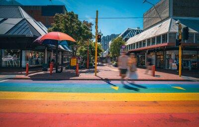 Obraz Landscape of Cuba Street, Wellington, New Zealand