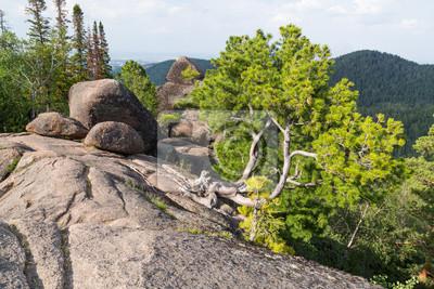 Landscape park Stolby, near Krasnoyarsk, Russia