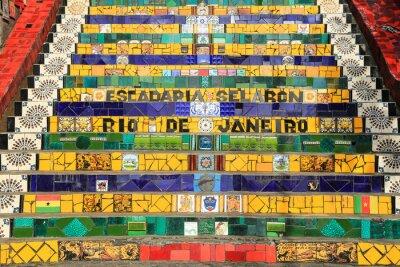 Obraz Lapa kaflowe Kroki w Rio de Janeiro Brazylia