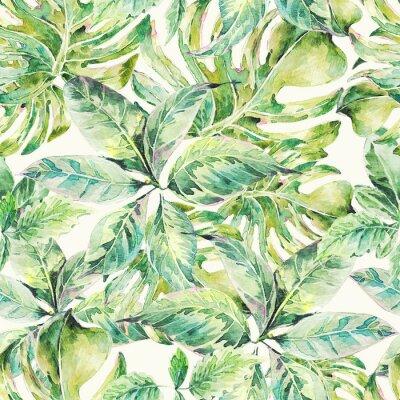 Obraz Lato egzotyczne akwarela bezszwowe wzór