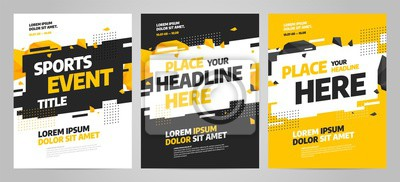 Obraz Layout design template for sport event, tournament or competition.