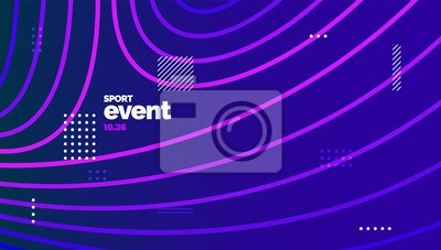 Obraz Layout design with dynamic shapes for event, tournament or championship. Sport background.