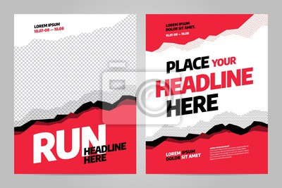 Obraz Layout poster template design for sport event