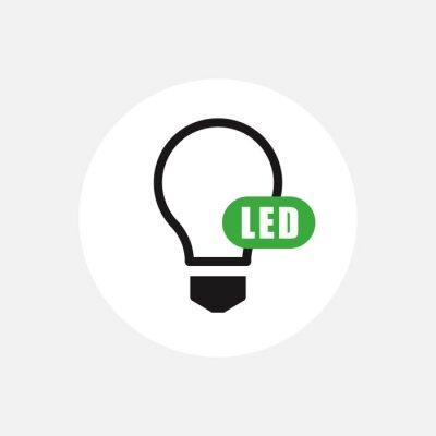 Obraz led light icon. Vector