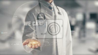 Obraz Lekarz trzyma w ręku Troska
