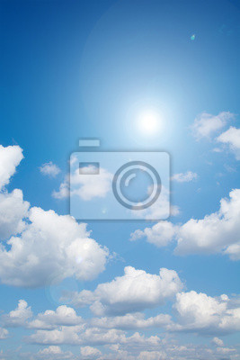 Lensflare  and sunlight with clouds