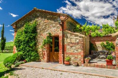 Obraz Letni domek agroturystyczne w Toskanii, Włochy