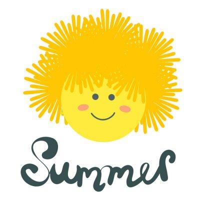letni nadruk ze słońcem