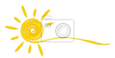 Obraz Letnie jasne słońce.
