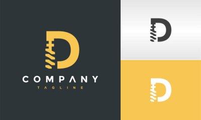 Obraz letter D drill logo