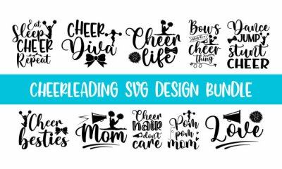 Obraz Lettering Cheerleading overlay typography set, Calligraphy style quote, Shop promotion motivation, Graphic design cheerleading lettering, and Calligraphy postcard or poster graphic design typography e