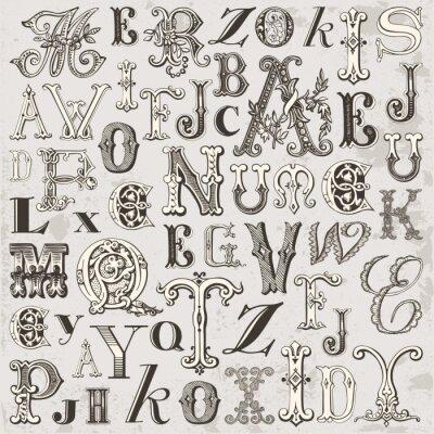 Obraz Lettres w stylu vintage