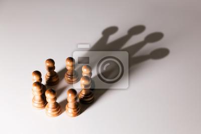 Obraz lidera biznesu, władzy zespołowej i koncepcji zaufania