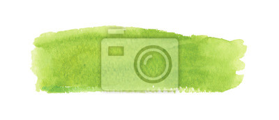 Obraz Light green watercolor label. Vector illustration.