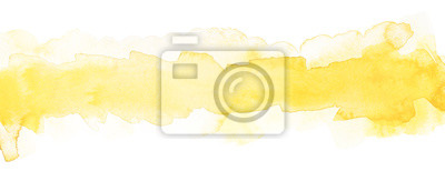 Obraz light yellow watercolor strip with smooth paper texture for text and design