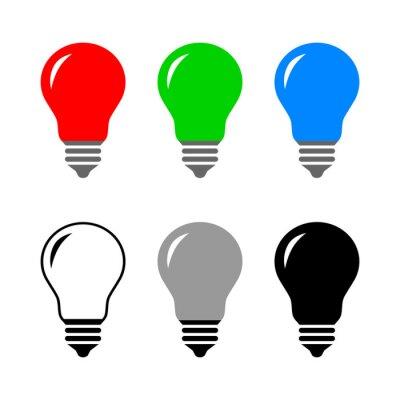 Obraz Lightbulb vector icon on white background