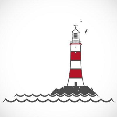 Obraz Lighthouse ikona.