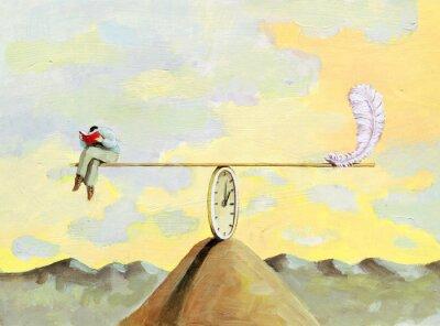Obraz lightness of the reade surrealism illustration