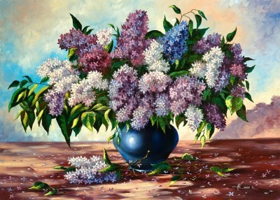 Obraz Lilac bouquet in a vase