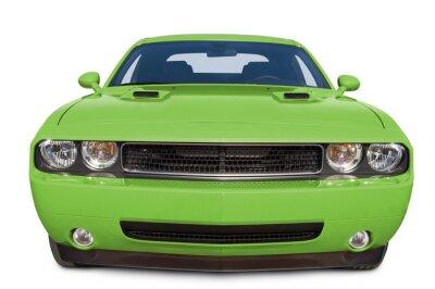 Obraz Lime Green Muscle Car