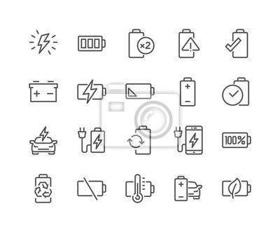 Obraz Linia baterii Ikony