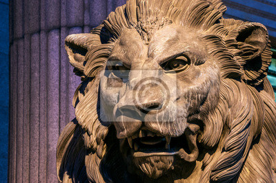 Lion of the Congress of Deputies in Madrid, Spain