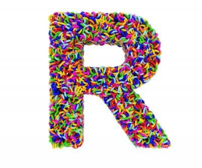 Obraz Litera R składa się z pierścieni wielokolorowych