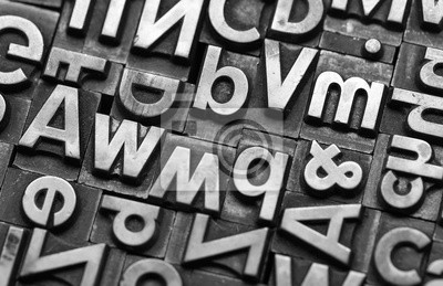 Obraz litery ołowiu