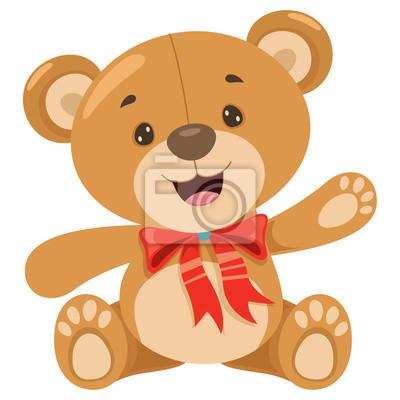 Obraz Little Funny Teddy Bear Cartoon