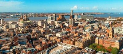 Liverpool skyline rooftop view
