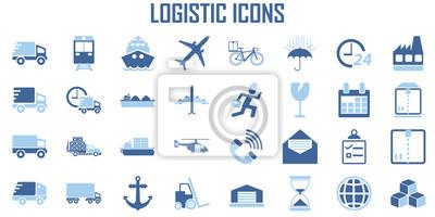 Obraz Logistic transport Shipping icon vector.