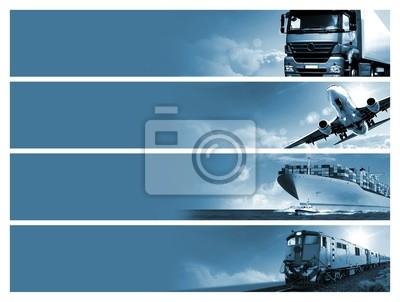 Obraz Logistyka w tle