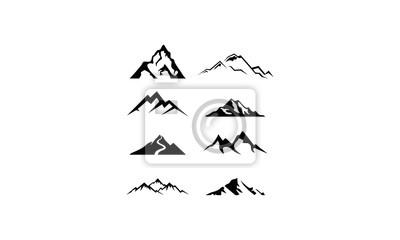 Obraz logo set mountain vector