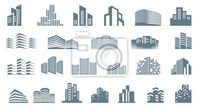 Obraz Logo template real estate. Clean, modern and elegant style design