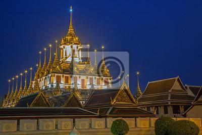 Loha Prasat Metal Pałac w Bangkok, Tajlandia