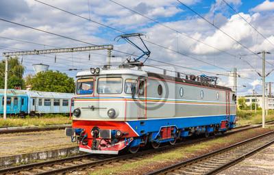 Lokomotywa w stacji Cluj-Napoca, Rumunia