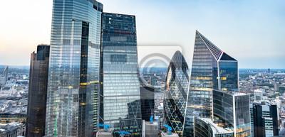 Obraz London skyline , city escape at sunset