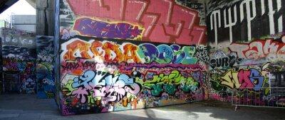 Obraz Londyn - Graffiti na skatepark # 1