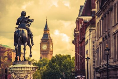 Obraz Londyn Karol I Statue