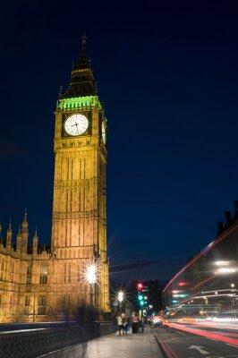 Obraz Londyn skyline o zmierzchu