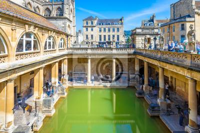 Obraz Long exposure view of roman bath in Bath, England