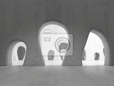Obraz Long passage. 3D rendering illustration.