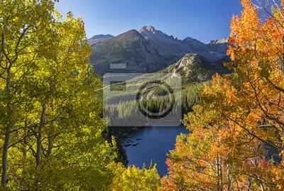 Longs Peak i Bear Lake Autumn