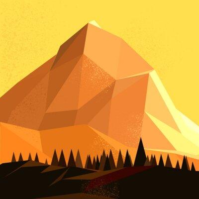 Obraz Low Poly Wektor Mountain
