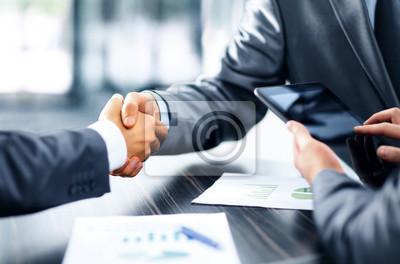 Obraz Ludzie biznesu drżenie rąk