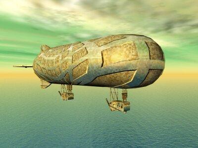 Obraz Luftschiff über dem ozean
