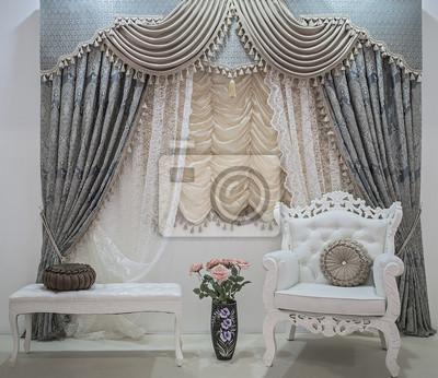 Luksusowe Zasłony Z Ornamentami Roślinnymi Firan Lambrekin Obrazy Redro