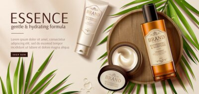 Obraz Luxury skincare product ad template